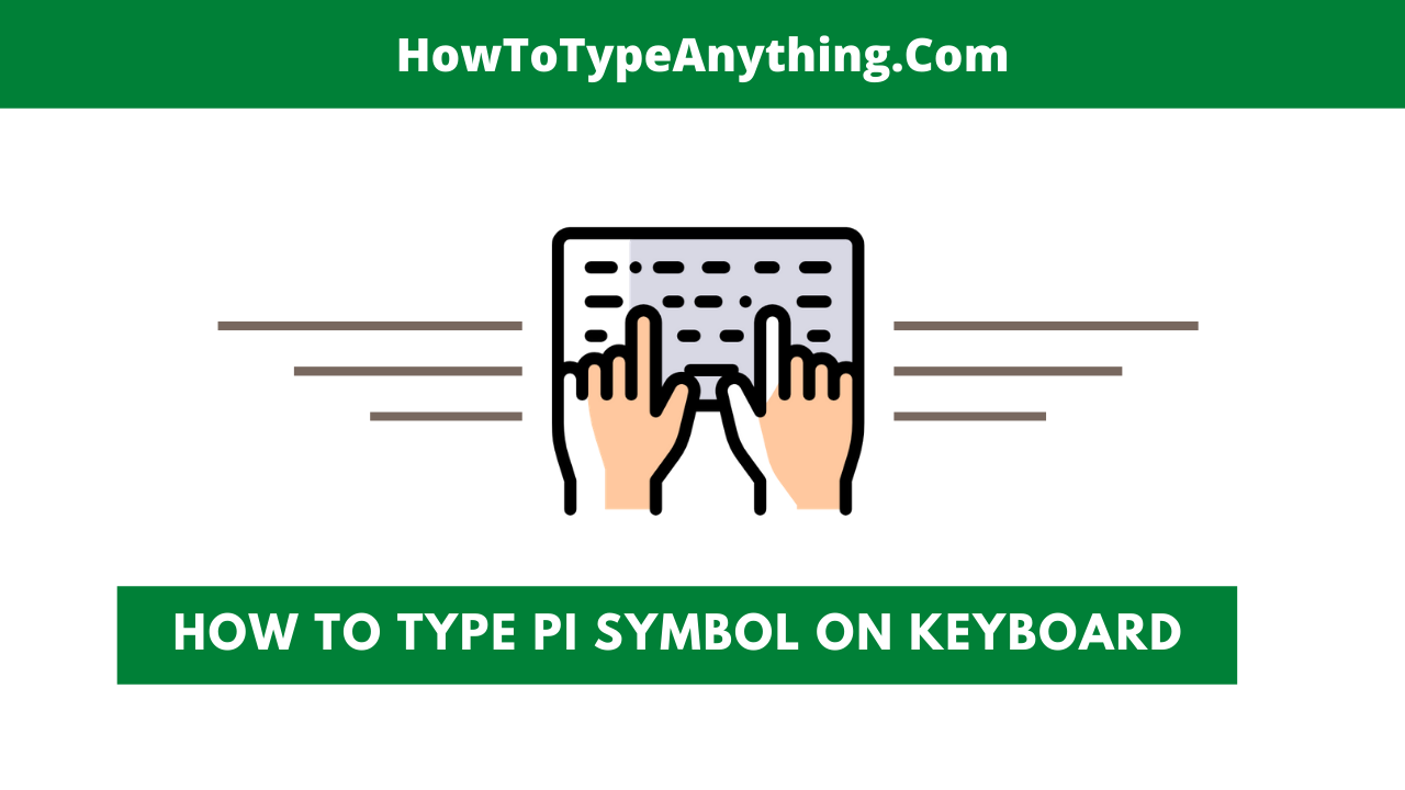How to type pi π symbol in Word or Excel using the Keyboard