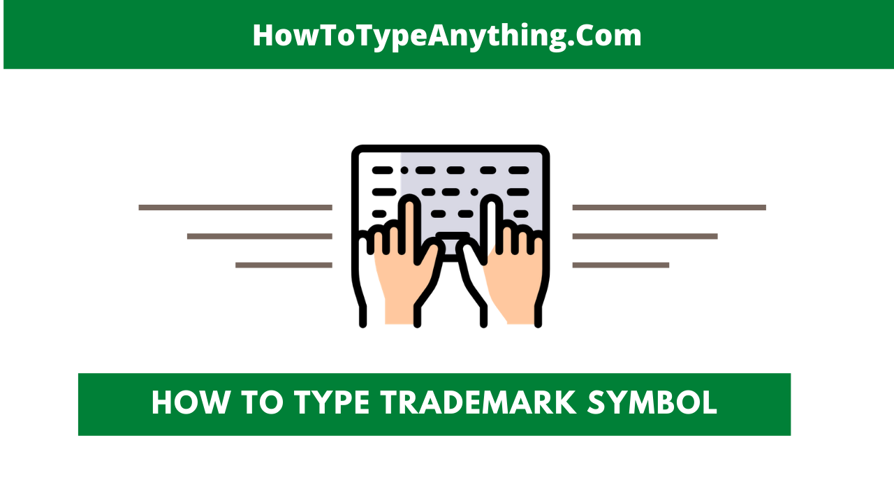 how to type trademark s