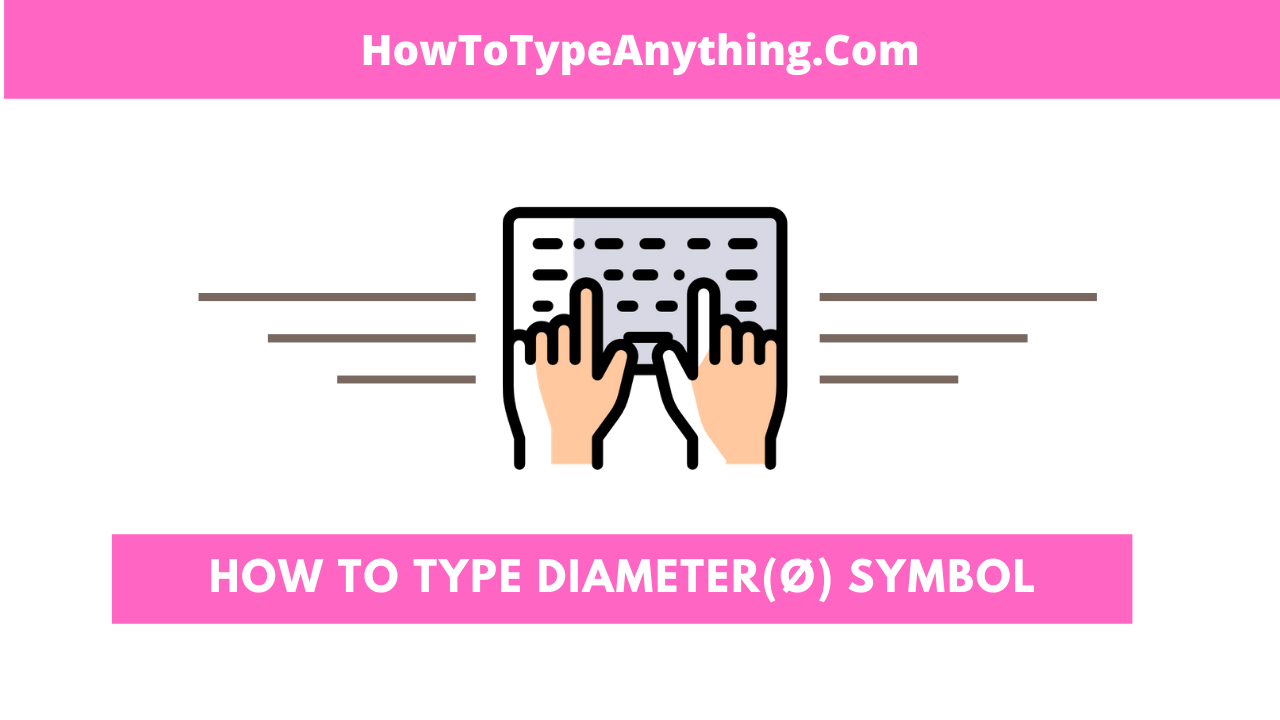 How to type diameter symbol in Word or Excel