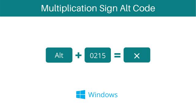 Multiplication Sign keyboard shortcut